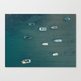 Boats In Salcombe Canvas Print