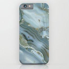 Slate Blue Lace Agate iPhone Case