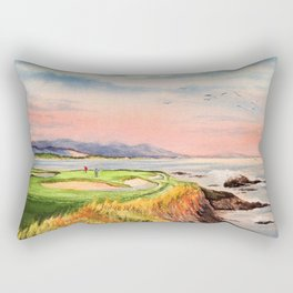 Pebble Beach Golf Course Hole 7 Rectangular Pillow