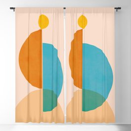 Abstraction_SUN_Rising_Minimalism_001 Blackout Curtain