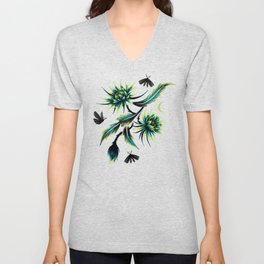 Queen of the Night - Green Unisex V-Neck