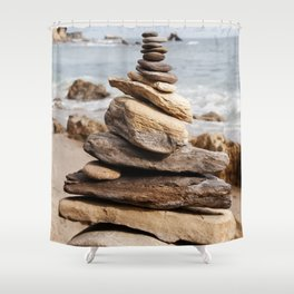 Natural Beach Rock Formation Coastline Yoga Earth Peace Zen Fine Art Print Shower Curtain