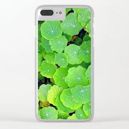 Emerald Snow Drop Clear iPhone Case