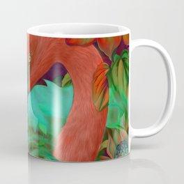 """""""Tropical Floral Retro Flamenco"""" Coffee Mug"""