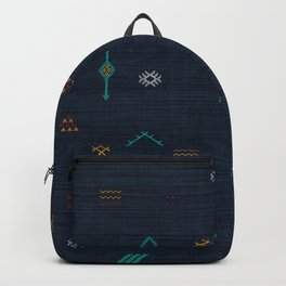 Cactus Silk Pattern in Navy Blue Backpack