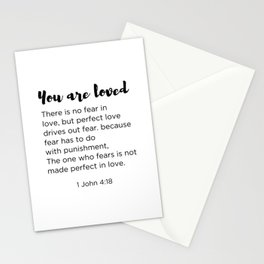 There is no fear in Love Stationery Cards