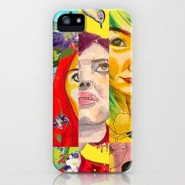 Female Faces Portrait Collage Design 1 iPhone Case