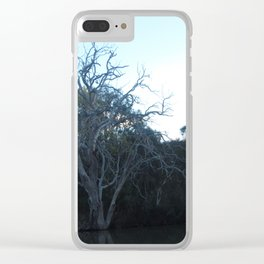 Dead Tree From Across The River Clear iPhone Case