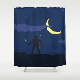 Pixel Assassin Shower Curtain