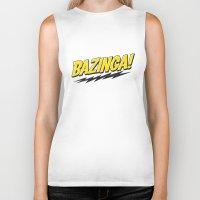 bazinga Biker Tanks featuring Bazinga Flash by Nxolab