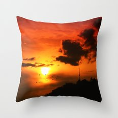 Red Sky II Throw Pillow