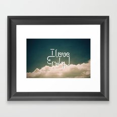 i love emily Framed Art Print
