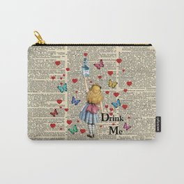 Drink Me - Vintage Dictionary Page - Alice In Wonderland Carry-All Pouch