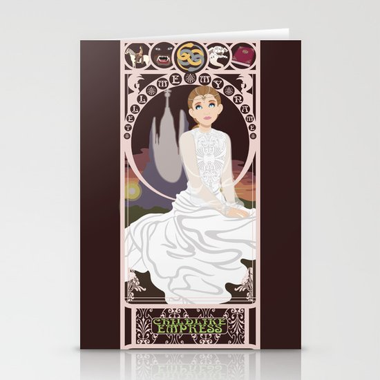 Childlike Empress Nouveau - Neverending Story Stationery Cards