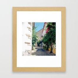 Portugal, Obidos (RR 181) Analog 6x6 odak Ektar 100 Framed Art Print