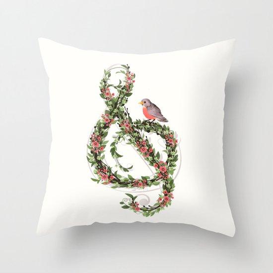 Robin's Song Throw Pillow