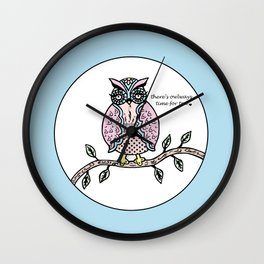 There's Owlways Time For Tea  Wall Clock