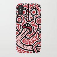 keith haring iPhone & iPod Cases featuring Keith Haring by cvrcak