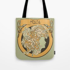 medusa silhouette (light) Tote Bag