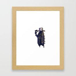 Jason Voorhees in pixels Framed Art Print