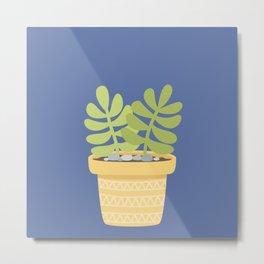 Succulents Plants Cactus Metal Print