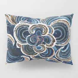 Blue Trametes Mushroom Pillow Sham