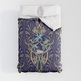 Art Nouveau Dragonflies | Navy Comforters
