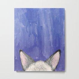 Siamese Kitty Ears Metal Print