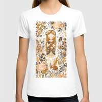 animals T-shirts featuring The Queen of Pentacles by Teagan White