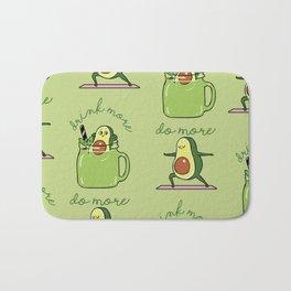 Drink More Smoothie Do More Yoga Avocado Bath Mat