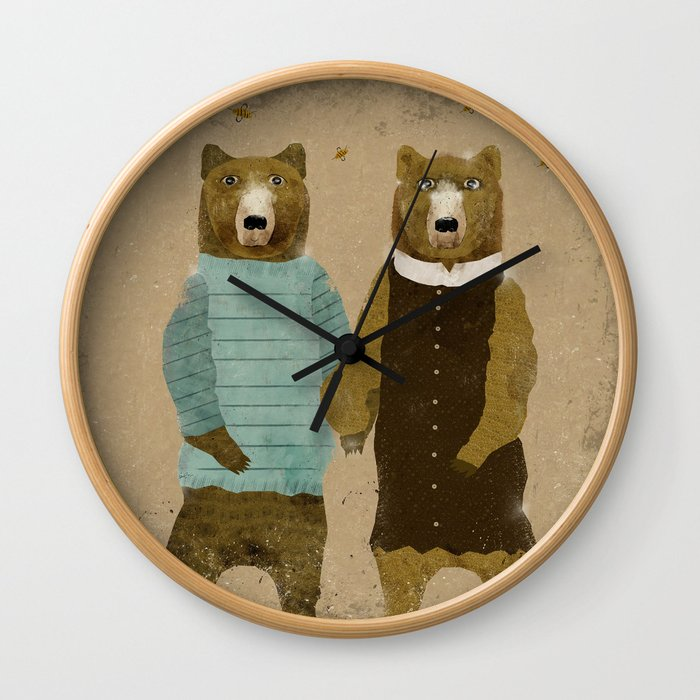 the happy couple Wall Clock