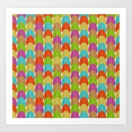 woodgrain eggs Art Print