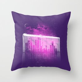 La Ville au Peigne Fin Throw Pillow