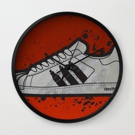 Aesthetix 3 Pens Superstar (Safety Orange) Wall Clock