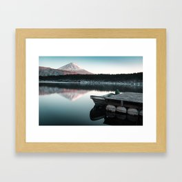 Peaceful Scenes from Mount Fuji Framed Art Print