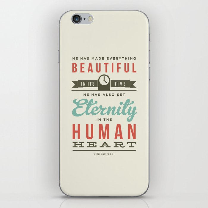 He has made everything beautiful iPhone Skin
