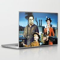 mary poppins Laptop & iPad Skins featuring Michael Myers in Mary Poppins by Luigi Tarini