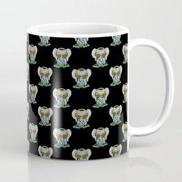 Elephant DJ Black Pattern Coffee Mug
