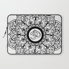 Om Hindu sacred sound symbol Mandala Laptop Sleeve