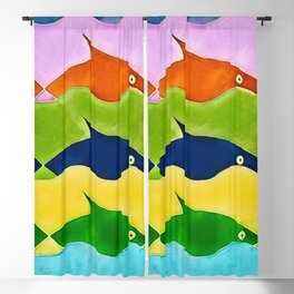 Colorful fishes Blackout Curtain