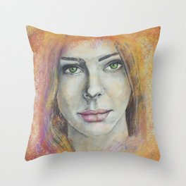 Frosted Windows of Color Throw Pillow