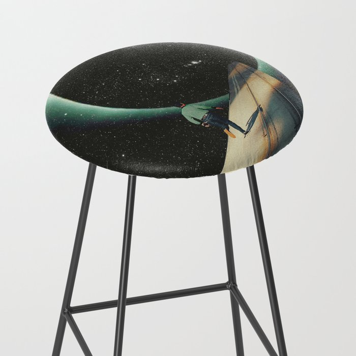 Escaping into the Void Bar Stool