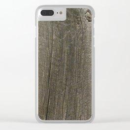 Weathered Barn Wood Door Clear iPhone Case