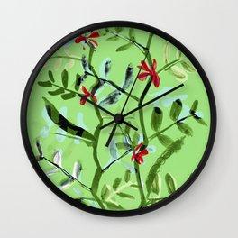 Crimson Favas Wall Clock