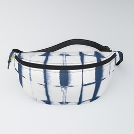 Shibori Stripes 4 Indigo Blue Fanny Pack