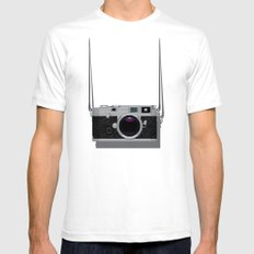 Vintage Camera Mens Fitted Tee SMALL White