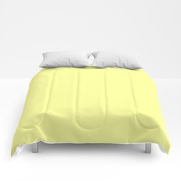 From The Crayon Box – Canary Yellow - Pastel Yellow Solid Color Comforters
