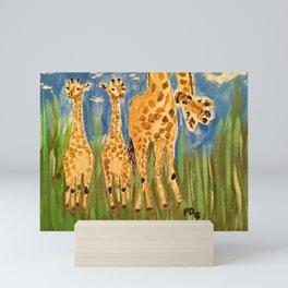 Curious Giraffes Mini Art Print