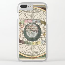 Keller's Harmonia Macrocosmica - Scenography of Wittich and Brahe 1661 Clear iPhone Case