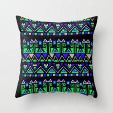 Tribal Rhythm Throw Pillow